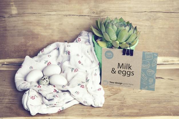 Egg farm branding mockup