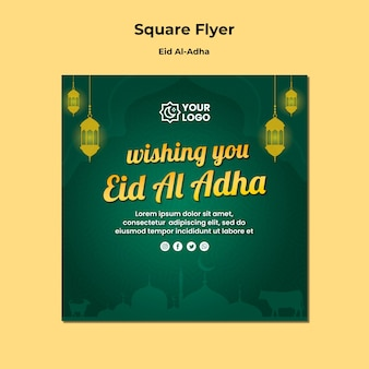 Eid al adha flyer design