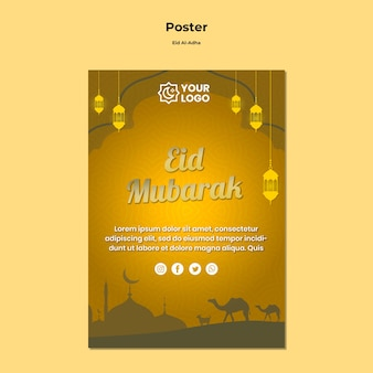 Eid al adha plakatgestaltung
