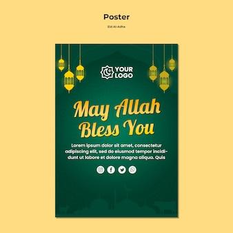 Eid al adha plakatthema