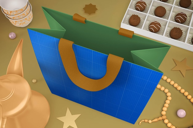Eid bag design mockup