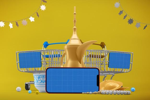 Eid shopping app-modell Premium PSD
