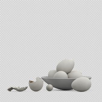 Eier 3d übertragen