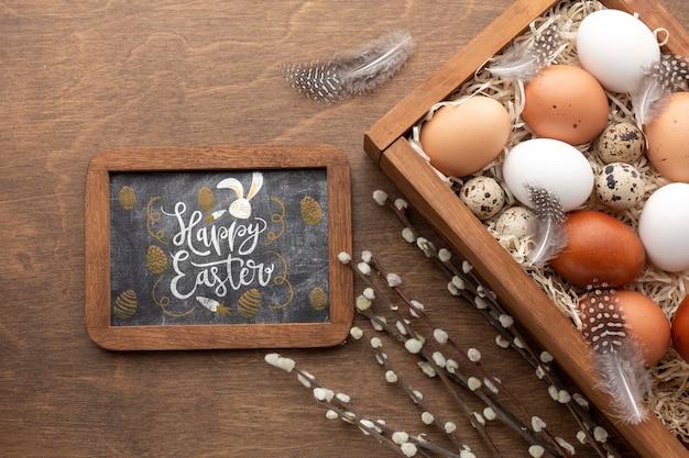 Eier für ostern und rahmen
