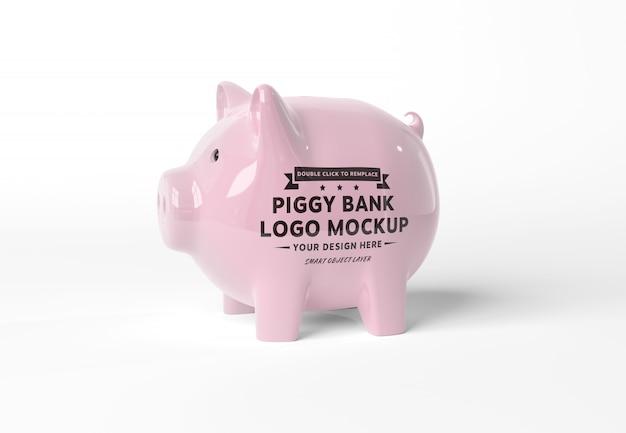 Ein modell eines rosa sparschweins