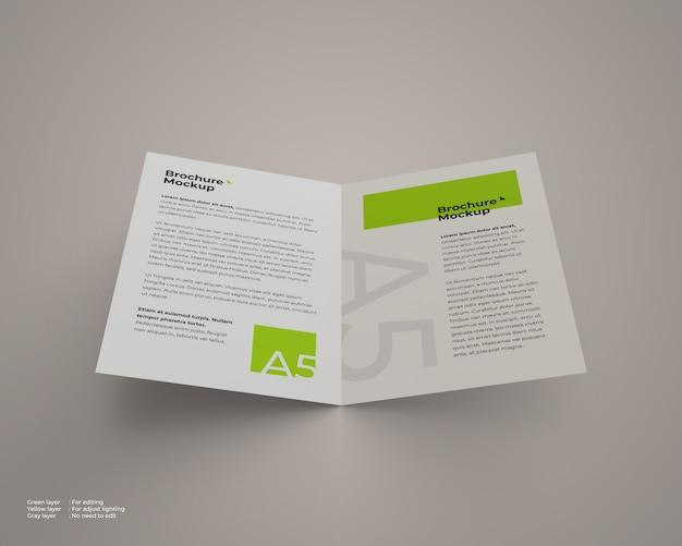 Ein offenes bifold-broschürenmodell