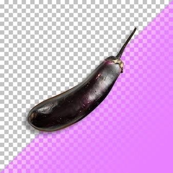 Eine nahaufnahme der gesamten aubergine grafikdesign element.psd