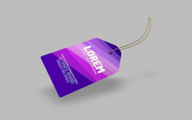 Einfach elegante stoff-tag-mockup-präsentation