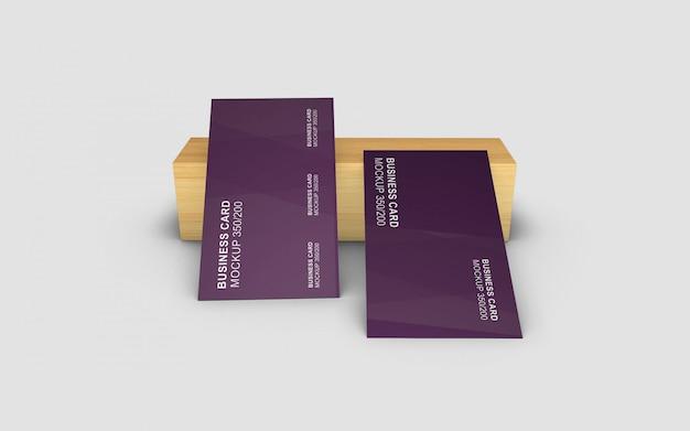 Einfach gestaltetes schönes und einfaches visitenkartenmodell