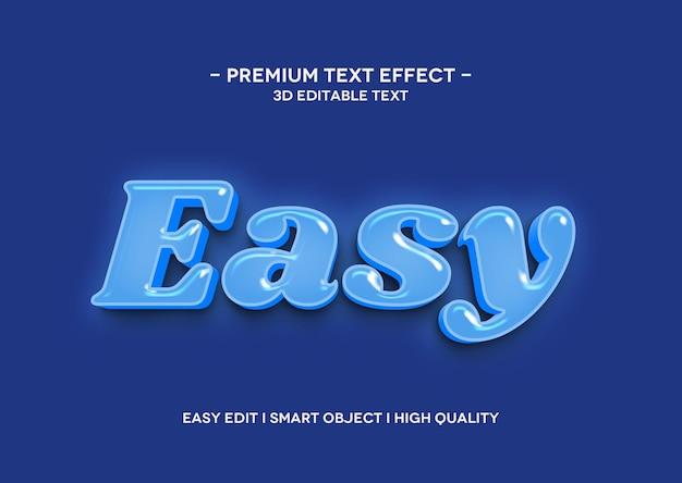 Einfache 3d-texteffektvorlage