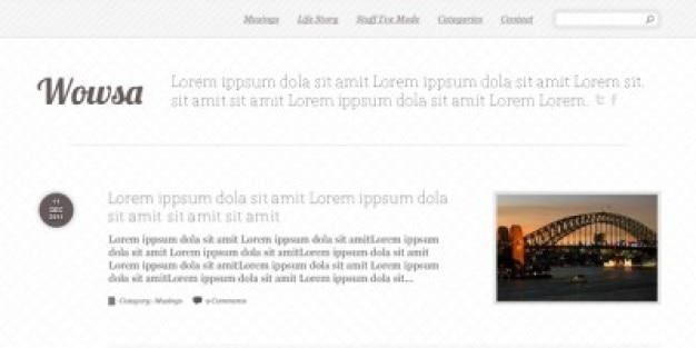Einfache blog-layout psd