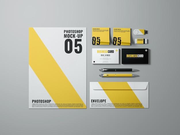 Einfache branding-modellvorlage