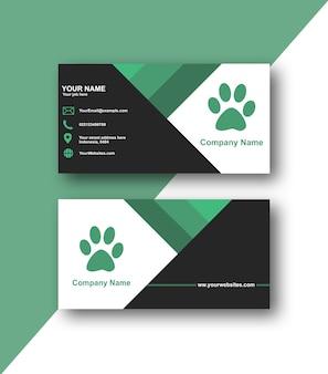 Einfache grüne visitenkarte