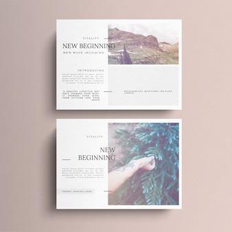 Einfache helle postkarte vorlage