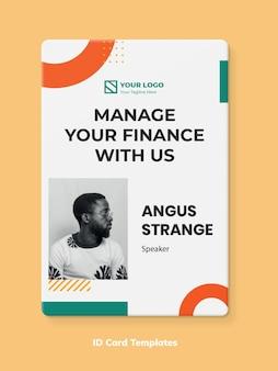 Einfache memphis finance id card vorlage