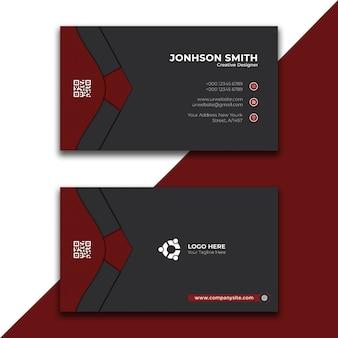 Einfache rote visitenkarte