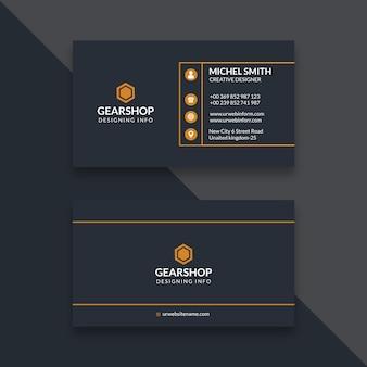 Einfache und saubere visitenkarte