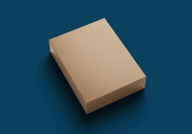 Einfache verpackungsbox konzept modell draufsicht