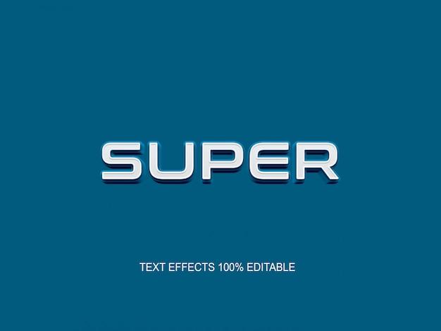 Einfacher bearbeitbarer schrifteffekt im modernen blauen textstil
