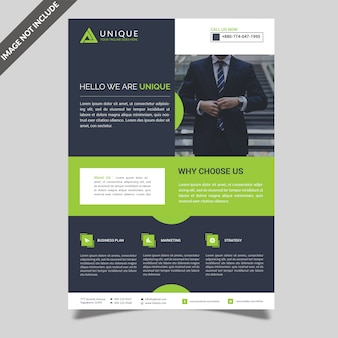 Einfacher business-flyer