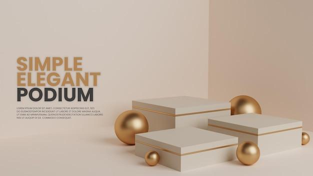 Einfacher luxus mit drei podium