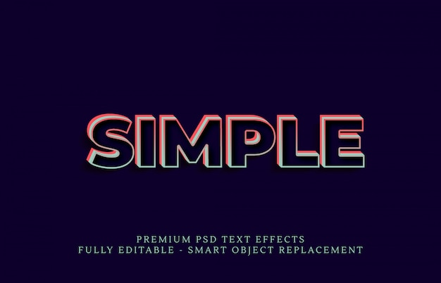 Einfacher textstil-effekt psd, premium-psd-texteffekte