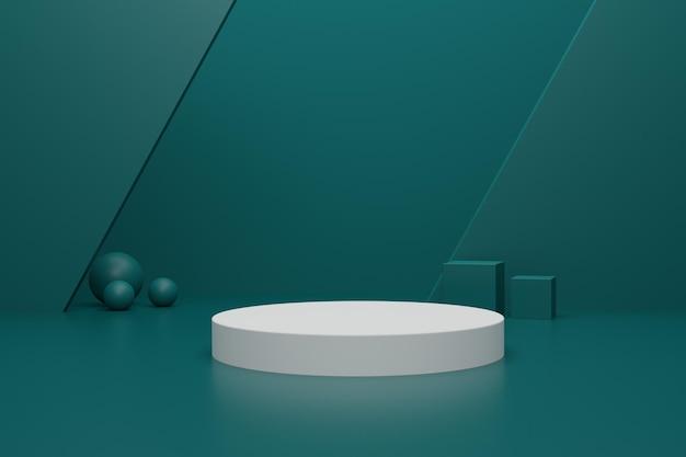 Einfaches 3d-rendering-podium für die produktpräsentation