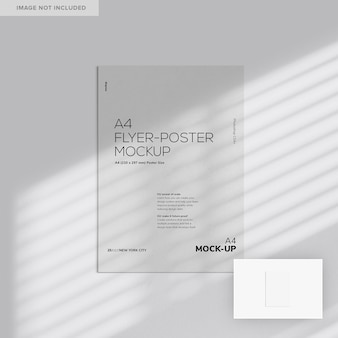 Einfaches a4-flyer-poster-modell