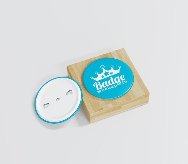 Einfaches abzeichenmodell für merchandising Premium PSD