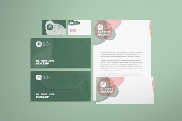 Einfaches branding-briefpapier-mockup