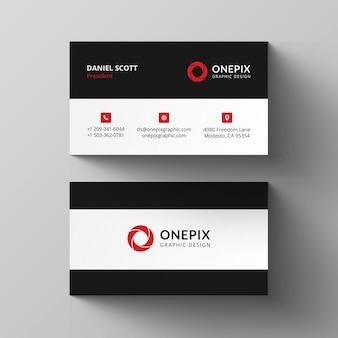 Einfaches design der roten visitenkarte