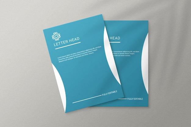 Einfaches, elegantes papiermodell im a4-format