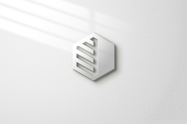 Einfaches modell an der wand mit lichteffekten