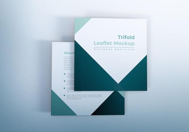 Einfaches trifold leaflet mockups design
