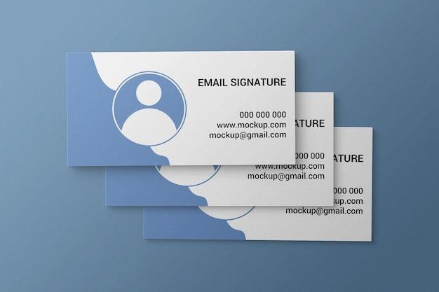 Einfaches und minimalistisches e-mail-signatur- oder umschlag- oder einladungskartenmodell