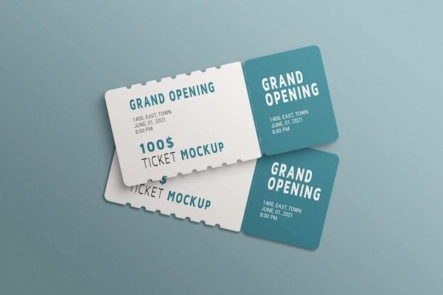 Einfaches und minimalistisches ticketmodell