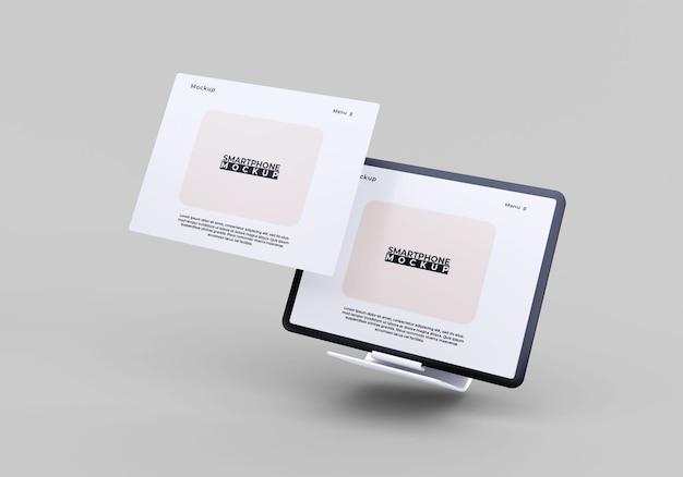 Einfaches und modernes bildschirmtablettmodell