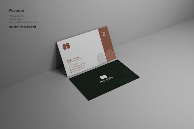 Einfaches und stilvolles visitenkartenmodell
