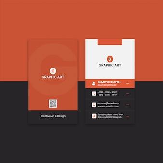 Einfaches visitenkarten-design