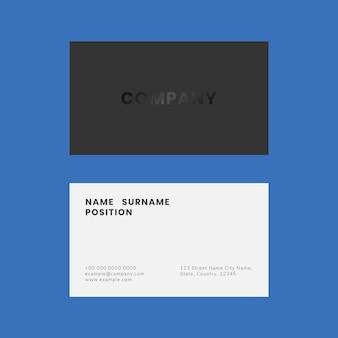 Einfaches visitenkartenvorlagen-psd-set