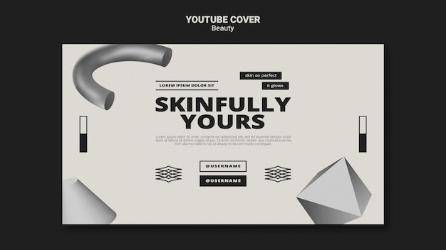 Einfarbiges hautpflege-youtube-cover