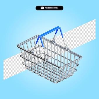 Einkaufskorb 3d-render-illustration isoliert