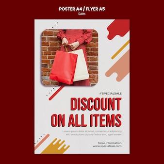Einkaufsrabatt flyer vorlage Premium PSD