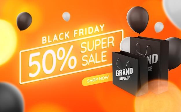 Einkaufstasche banner black friday