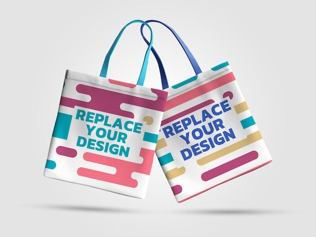 Einkaufstasche mockup 3d rendering design