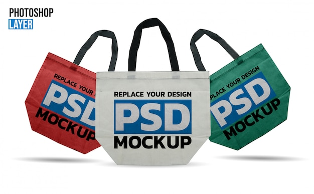 Einkaufstasche mockup design