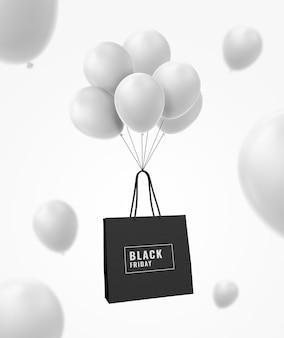Einkaufstasche schwarzer freitag
