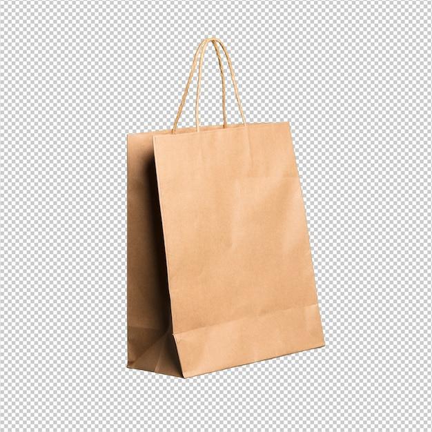 Einkaufstasche über weißem hintergrund
