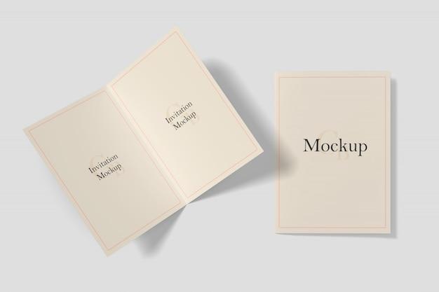 Einladungskarte mockup