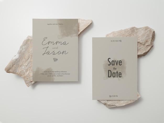 Einladungskartenvorlage, hochzeitskartenmodell, 5 x 7 minimalistisches briefpapier-modell.